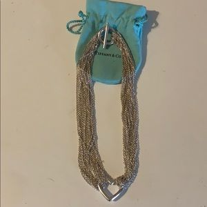 Retired Tiffany & Co. heart mesh necklace.